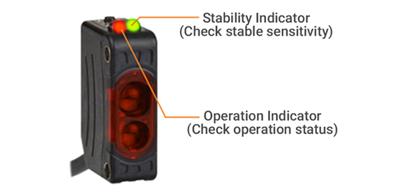 Stability Indicator(Check stable sensitivity), Operation Indicator(Check operation status)