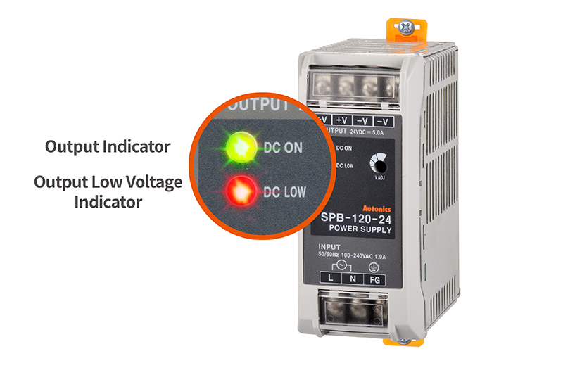 Output Indicator, Output Low Voltage Indicator